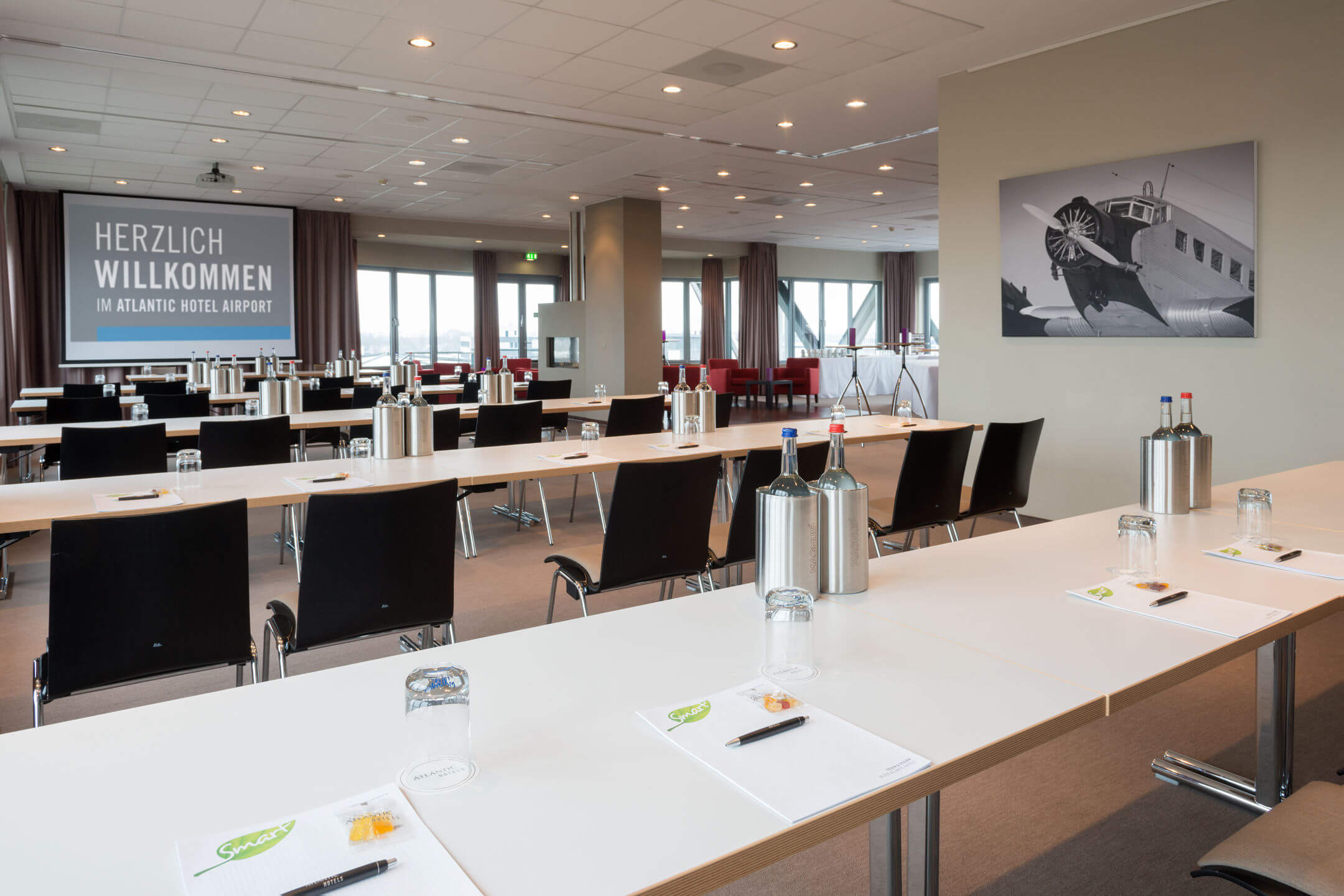 Function rooms Lilienthal and Junkers in the ATLANTIC Hotel Airport Bremen