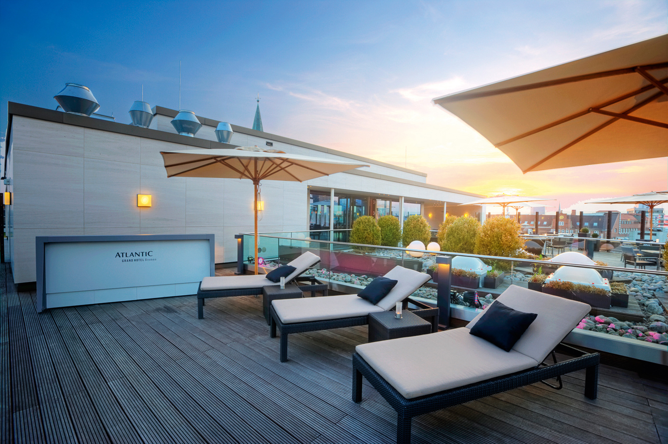 Rekax in our Roof Lounge and enjoy the view over Bremen
