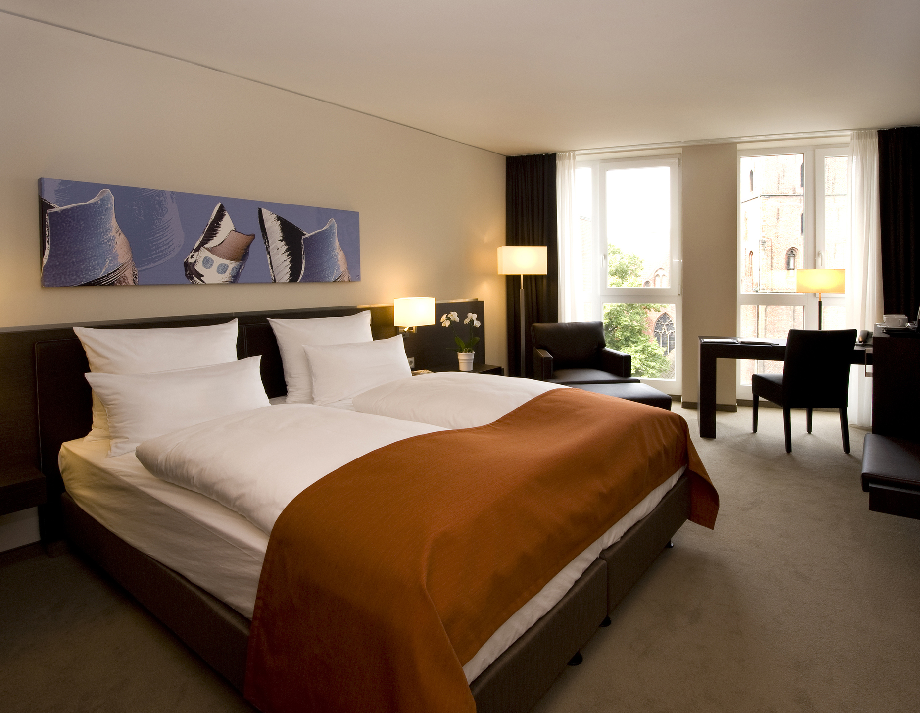 Comfort Room with a double bed in the ATLANTIC Grand Hotel Bremen