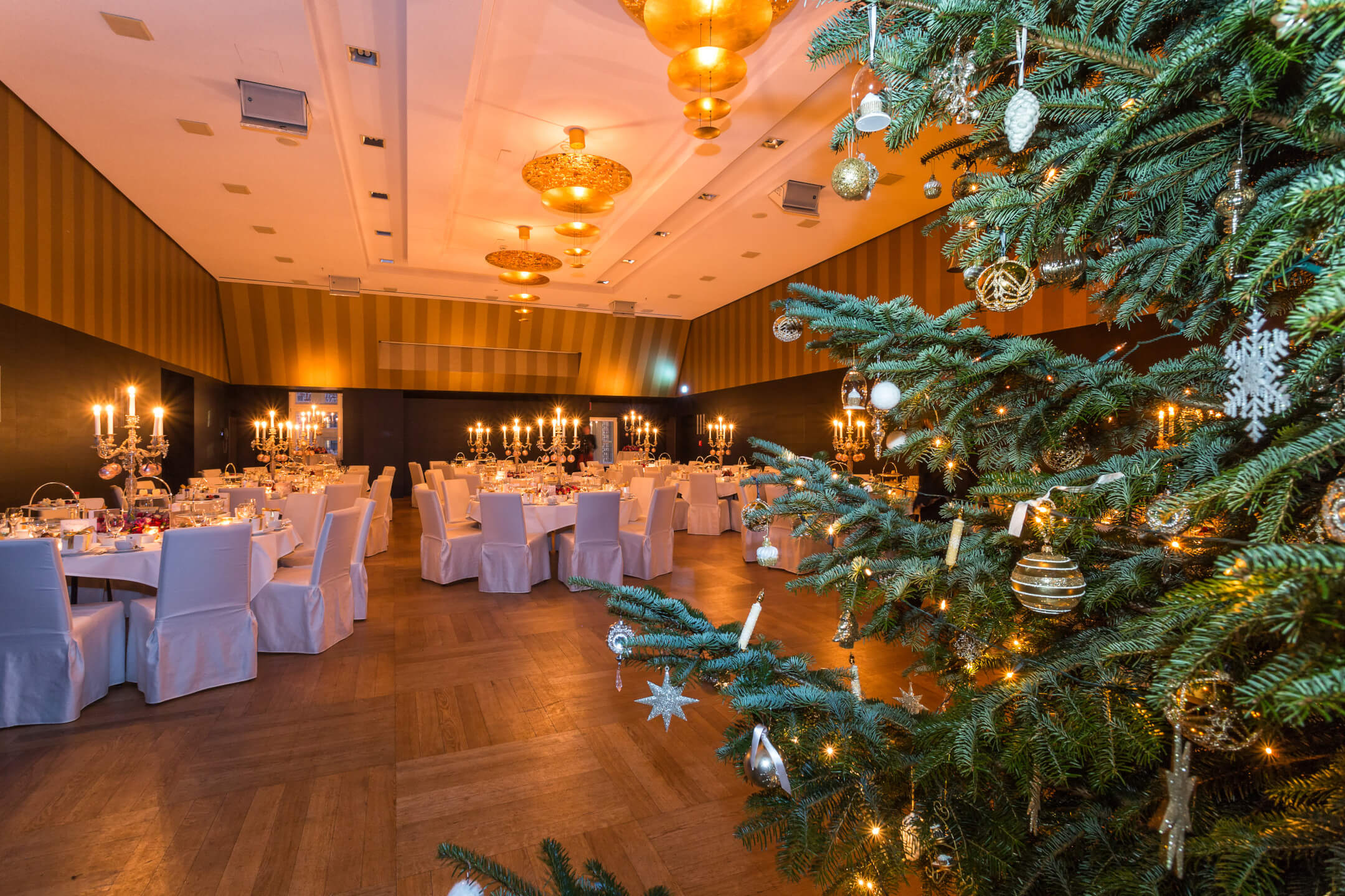 Goldener Saal with christmastree