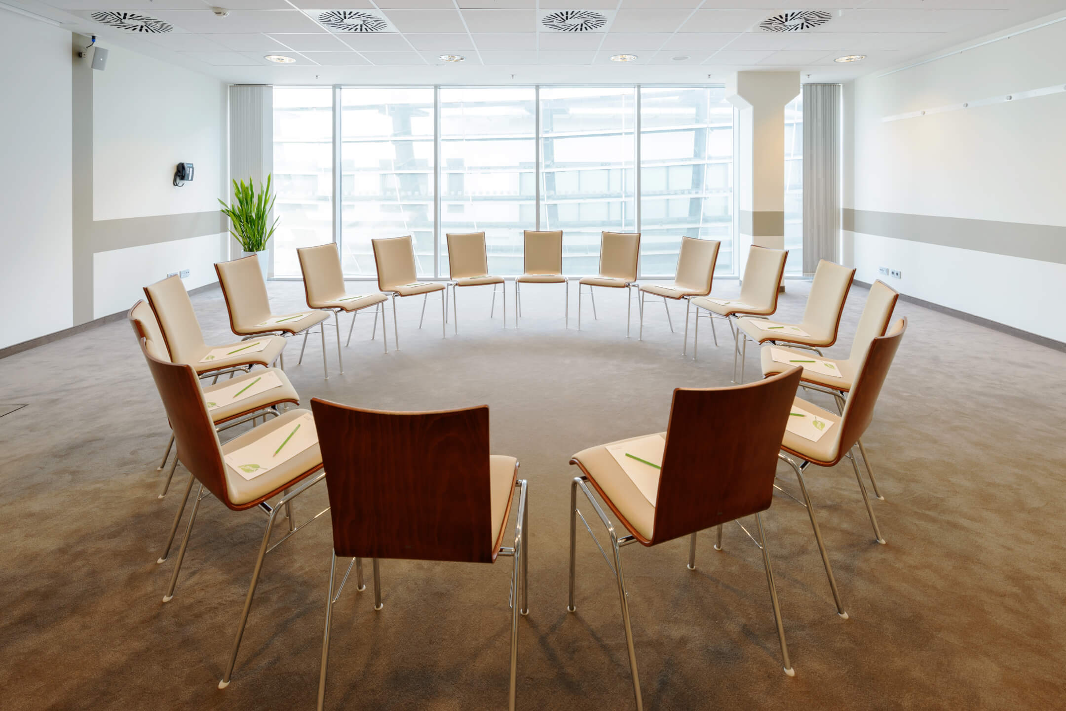 Chair circle in function room conference room 6