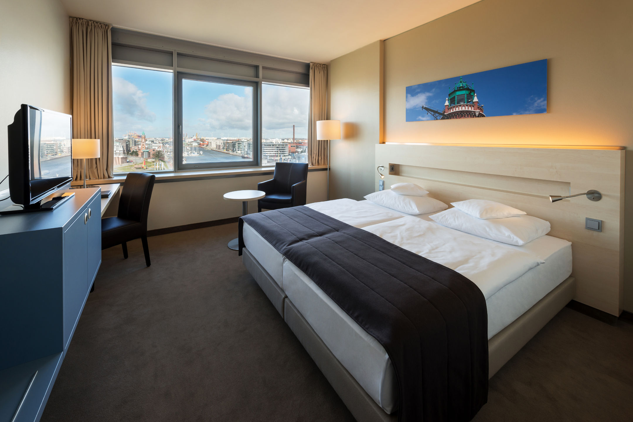 Superior Room in the ATLANTIC Hotel SAIL City in Bremerhaven