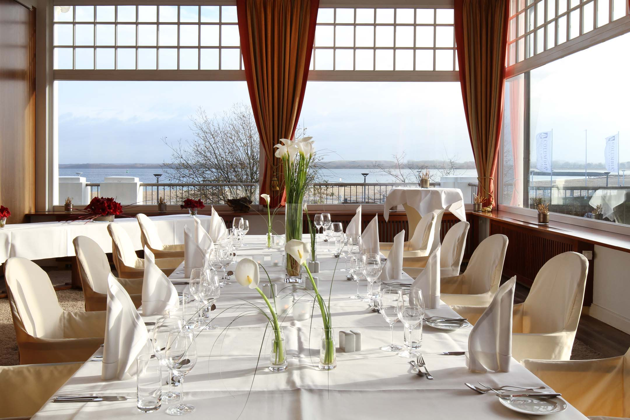 Event room Travemünde with a view over the Baltic Sea