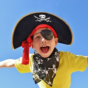 Child dressed up as a pirate