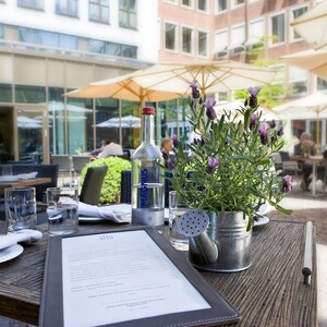 Terrace of the restaurant alto in the ATLANTIC Grand Hotel Bremen