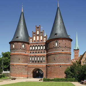 "The ""Holstentor"" in the hanseatic city Lübeck"