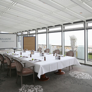 Event Room Baltic View in the ATLANTIC Grand Hotel Travemünde overviewing the Baltic Sea