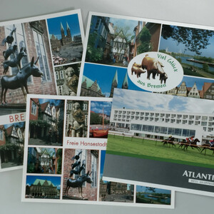 Postcards Bremen and the ATLANTIC Hotel Galopprennbahn